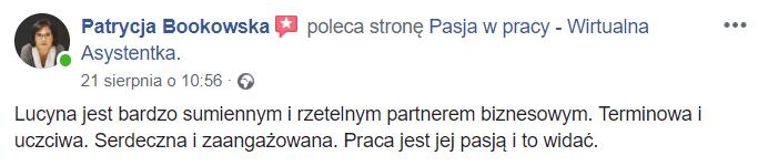 Rekomendacja od Patrycja Bukowska